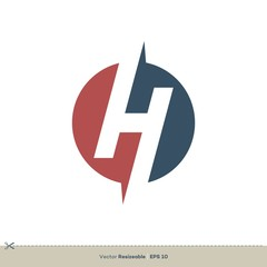 H Letter Logo Template Illustration Design. Vector EPS 10.