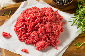 Wall Mural - Raw Organic Red Ground Minced Beef