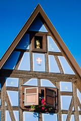 Typische Elsässer Hausfassade