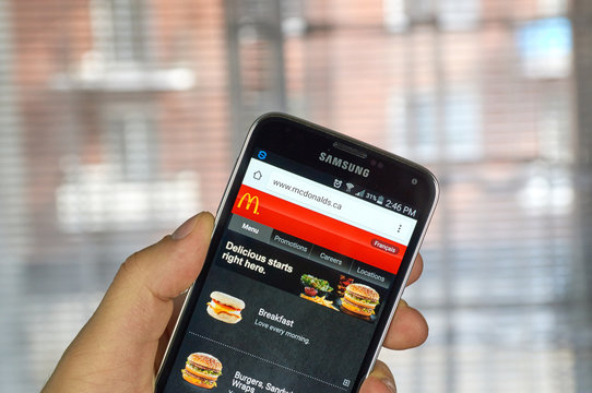 McDonald's site on a cell phone.