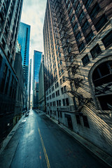 Street in Chicago with morning light