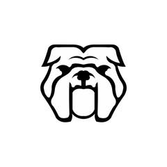 Bulldog wild animal head mascot inspiration logo illustration vector