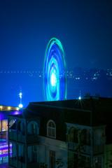 Long exposure light at fun park