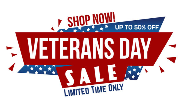 Veterans day sale banner design