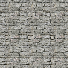 Large square brick wall seamless pattern. Repeating texture shell rock.