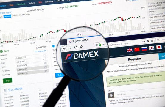 Bitmex cryptocurrency exchange