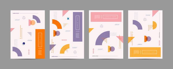 Covers with trendy minimal design. Cool geometric backgrounds for your design. Applicable for Banners, Placards, Posters, Flyers etc. Eps10 vector template. Wall mural
