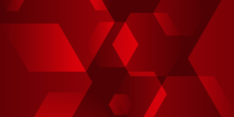 abstract background design with elegant transparent hexagon Wall mural