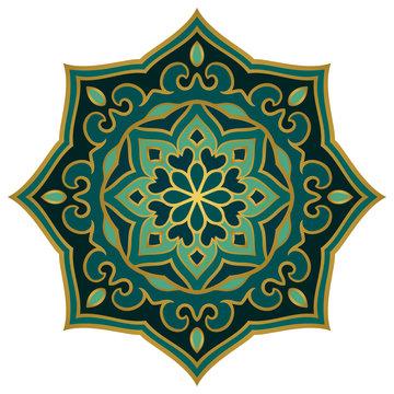 Simple green mandala.