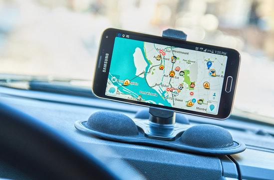 GPS app Waze.