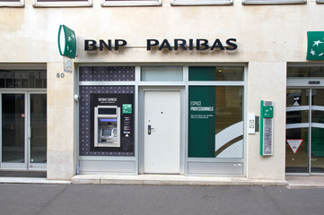Office of BNP Paribas bank in Paris.