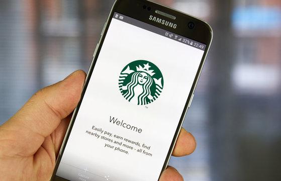 Starbucks mobile application.