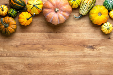 Autumn greeting card or background with blank space for a text