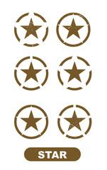 Military star icon on white