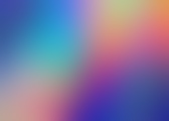 Multicolor amazing defocus background. Red blue yellow pink violet gradient abstract pattern. Rainbow colorful blur illustration. Attractive creative formless template.