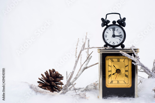 Daylight Saving Time Wall Clock Going To Winter Time