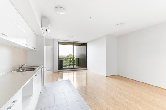 Empty and unfurnished brand new apartment