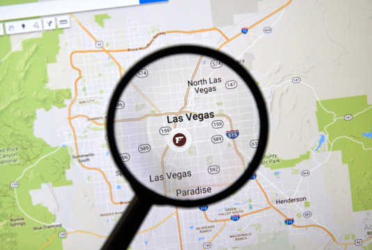 Las Vegas on Google Map