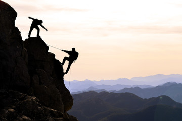 climbers the help,support and interest
