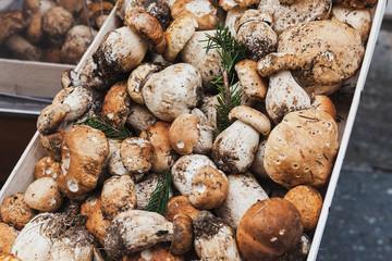 Porcini mushrooms.