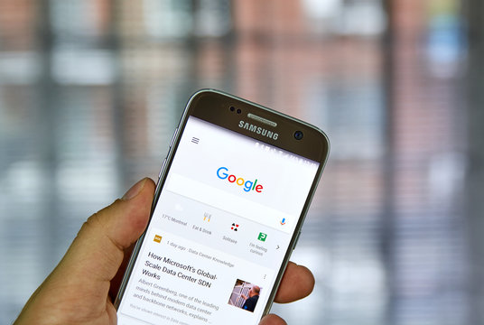 Google search on mobile phone.