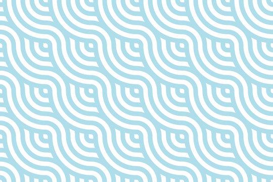 Blue ocean wave Background pattern seamless tiles. Use for design.