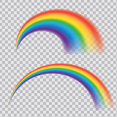 Multicoloured rainbow stripes isolated