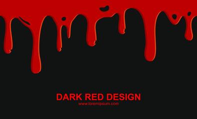 blood drops on black background