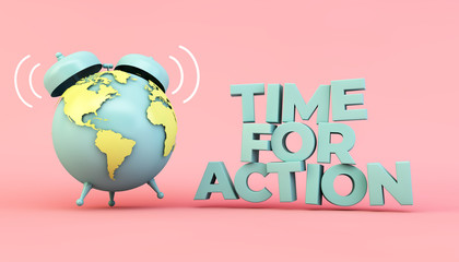 time for action eco illustration