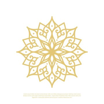 Simple vector of a mandala using a flower theme