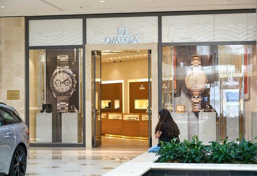 Omega famous boutique.