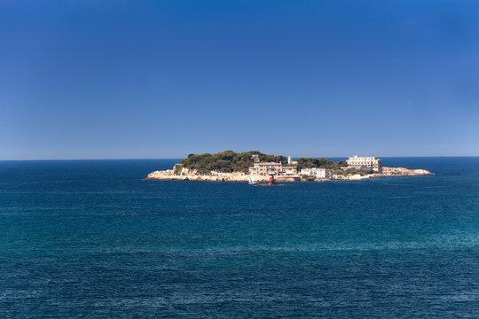 Ile de Bendor, Bendor Island, in front of Bandol, Alpes-Maritimes, Cote d'Azur, South of France, France, Europe