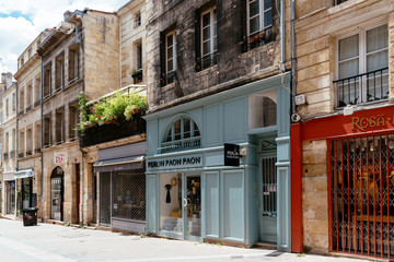 Perlin Paon Paon boutique in pedestrian street in historic centre of Bordeaux