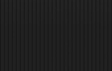 3d rendering. minimal black vertical panels wood wall background. Fototapete