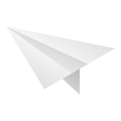 Paper plane icon. Isometric of paper plane vector icon for web design isolated on white background