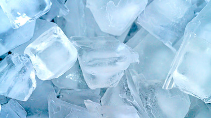 Close up ice cube background