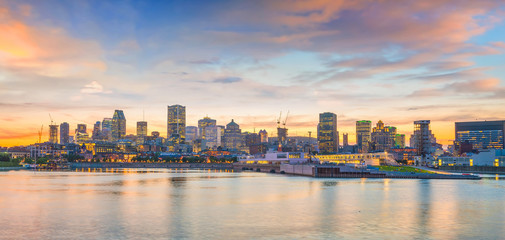 Fototapete - Downtown Montreal skyline at sunset