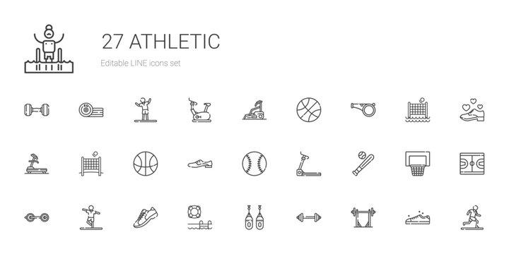 athletic icons set