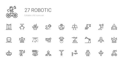 robotic icons set