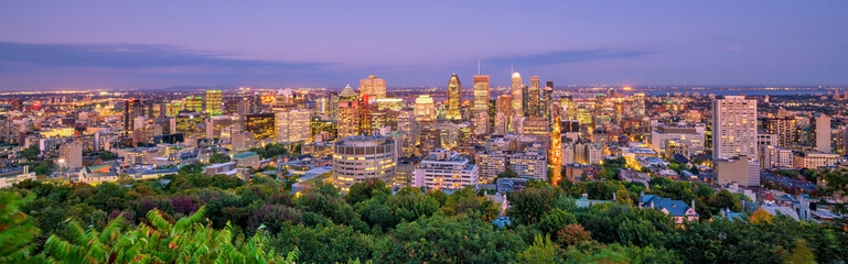 Fotomurales - Montreal from top view at sunset in Canada