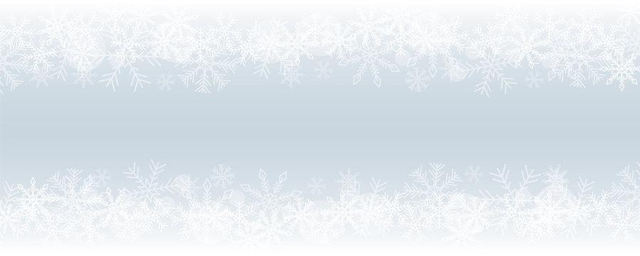 winter christmas snowy border blue background vector illustration EPS10