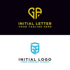 Fototapeta Modern graphic design logo set, GA Inspirational logo design for all companies. -Vectors obraz
