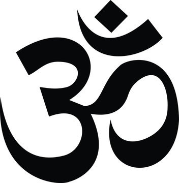 hindu om sign vector easy to use