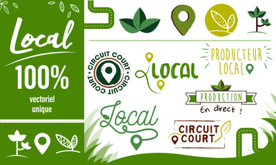Logo / Label / sticker - local - circuit court - producteur - bio