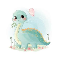 Custom vertical slats with your photo Cute Dinosaur