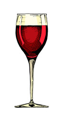 Wall Mural - illustration of wine glass