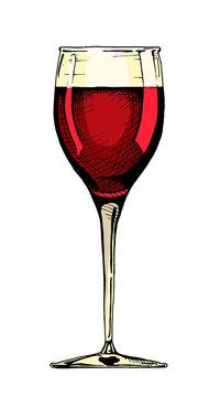 illustration of wine glass