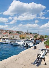 Hafen im Urlaubsort Mali Losinj auf der Insel Losinj,Adria,Kvarner Bucht,Kroatien