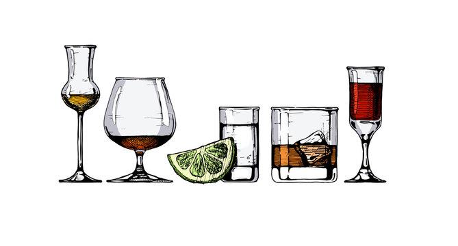 glasses goblets set