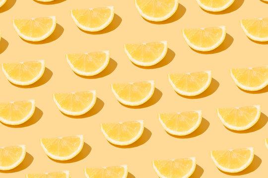 Lemon Citrus Fruit Sliced Pattern